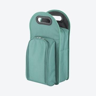 Metro 2-Bottle Tote Bag - Green