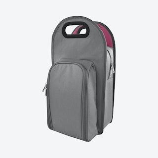 Metro 2-Bottle Tote Bag - Grey / Purple