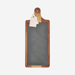 Cheese Board Paddle - Acacia Wood / Slate