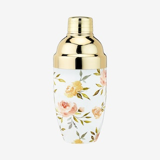 Watercolour Floral Cocktail Shaker