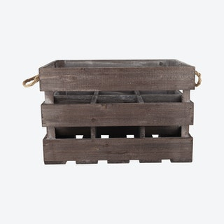 6-Bottle Wooden Crate