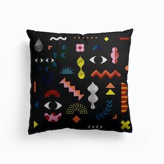Joy Of Shapes Canvas Cushion