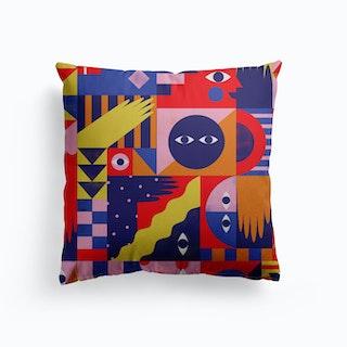 Happy Quilt Canvas Cushion