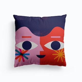 Happy Face Canvas Cushion