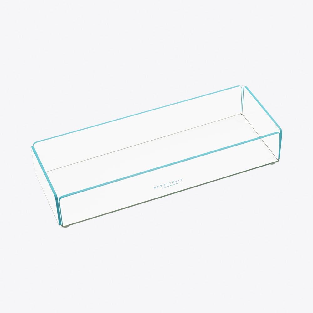 Acrylic Stacking Tray Medium in Blue