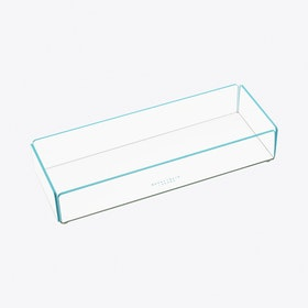 Acrylic Stacking Tray Medium in Blue