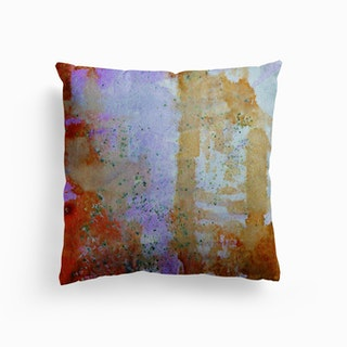 Abstract Copper And Lilac Canvas Cushion
