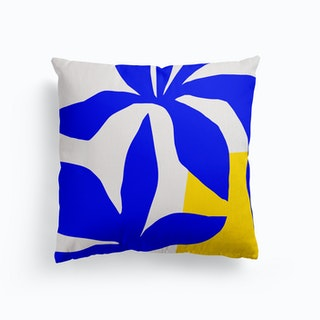 Matisse Inspired 2 Blue And Yellow Canvas Cushion