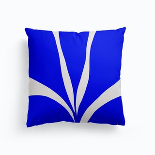 Matisse Inspired 1 Blue And Yellow Canvas Cushion