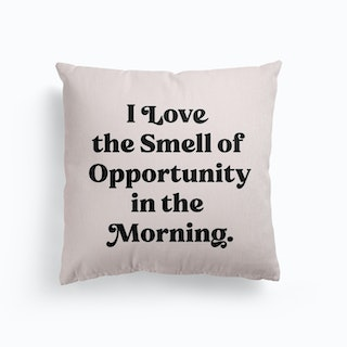 I Love The Smell Of Opportunity 1 Canvas Cushion