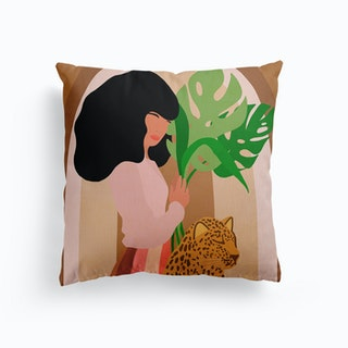 Strong And Fierce Girl Power Canvas Cushion
