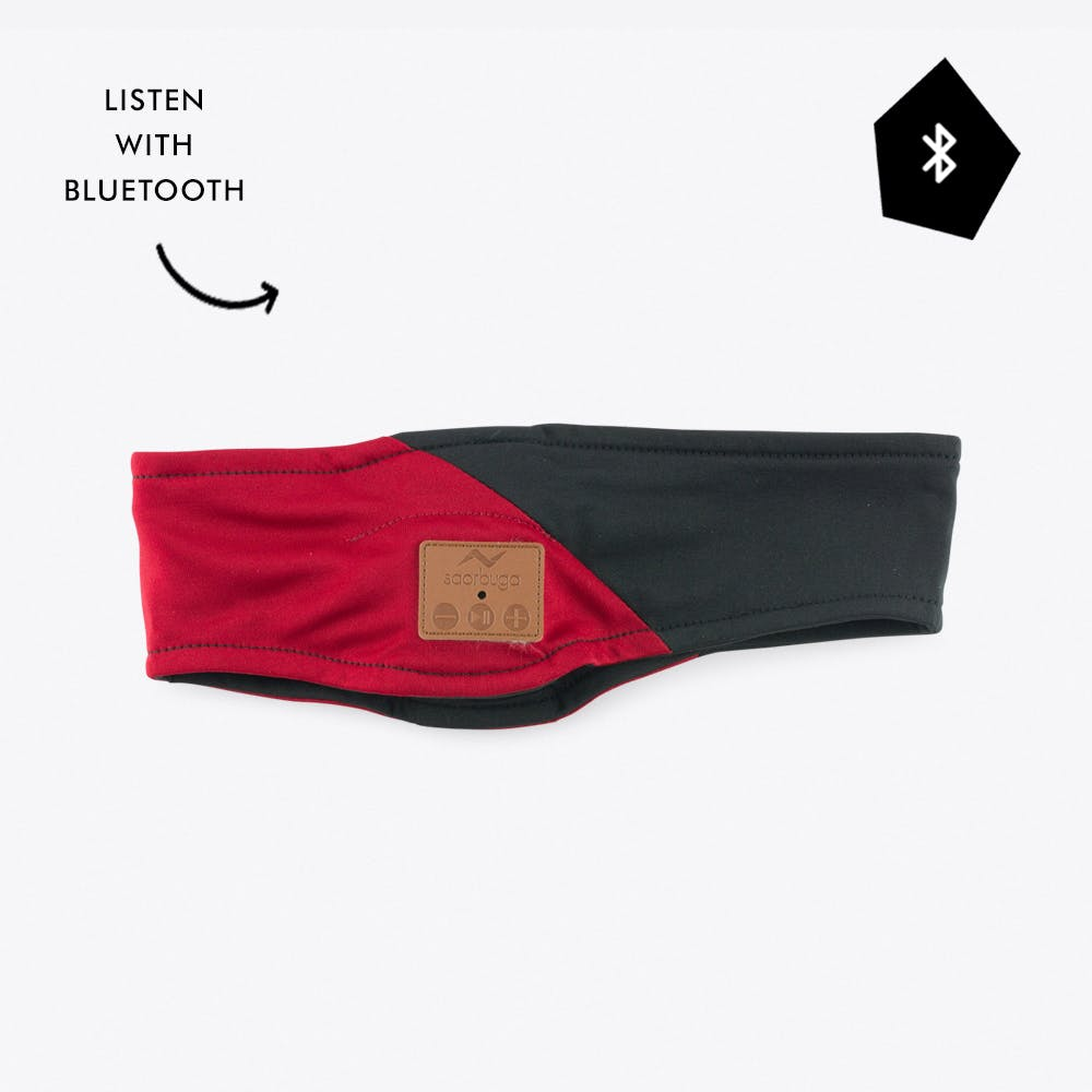 Bluetooth Audio Headband in Red & Black
