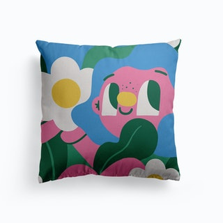 Lady Garden Canvas Cushion