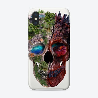 Two Face Skull Phone Case