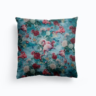 Flamingos Canvas Cushion
