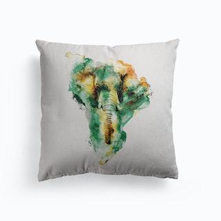 Elephant Canvas Cushion
