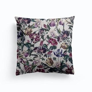 Fractal Flora Canvas Cushion