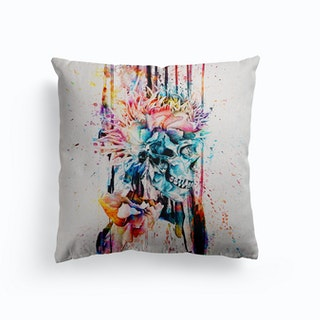 Abstract Skull 2 Canvas Cushion