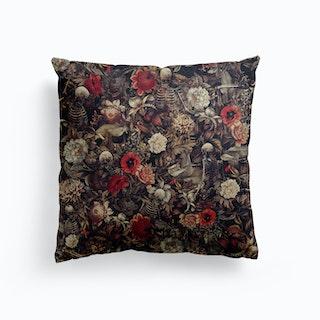Skeleton Garden Canvas Cushion