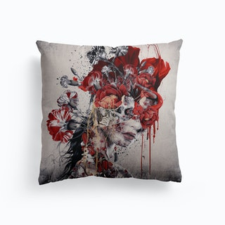 Queen Of Skull Canvas Cushion