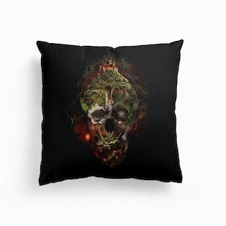 Skull Castle 3 Canvas Cushion