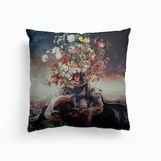 Space Cat Canvas Cushion