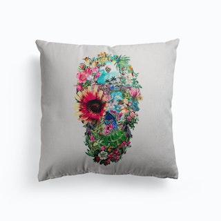 Summer Skull Canvas Cushion