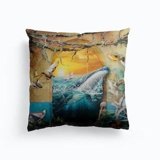 Whale Canvas Cushion