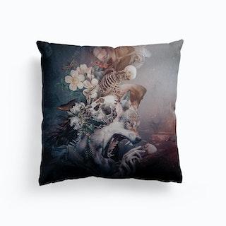 Wolf 2 Canvas Cushion