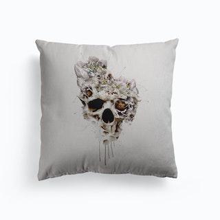 Skull Castle Canvas Cushion