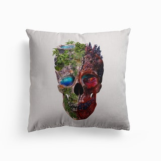 Two Face Skull Canvas Cushion