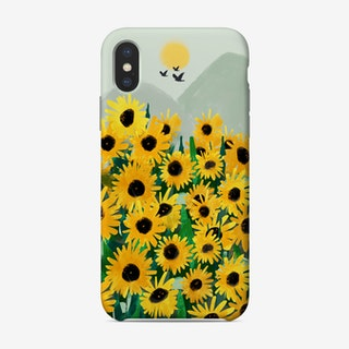 Yellow Blooms By The Mountain Phone Case