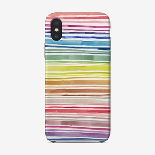 Rainbow Abstract Lines Phone Case