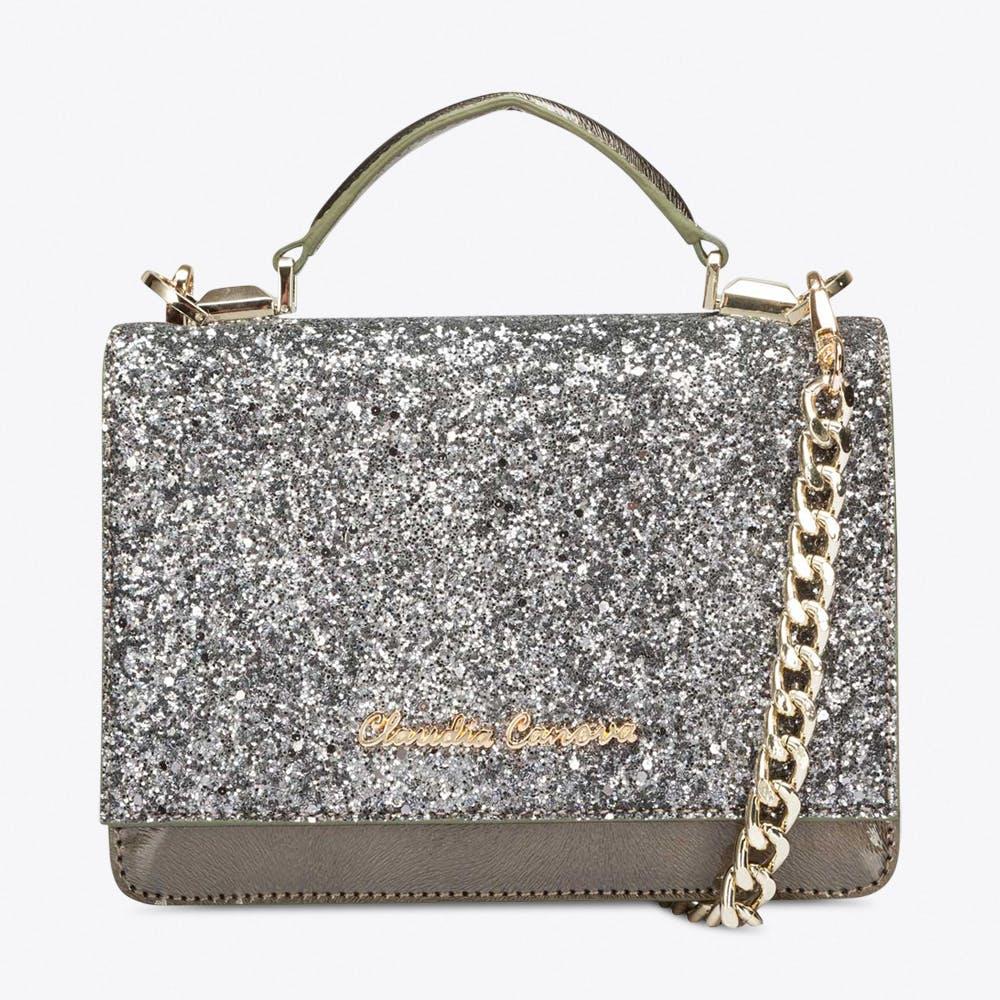 Empress Glitter Bag in Pewter