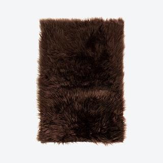 Faux Fur Area Rug - Dark Brown