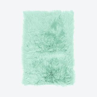 Faux Fur Area Rug - Mint