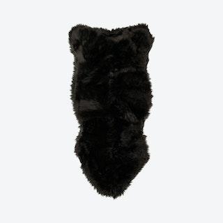 Sheepskin Area Rug - Black - Faux Fur