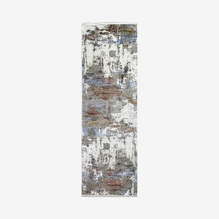 Gitty Runner Rug - Ivory / Rust