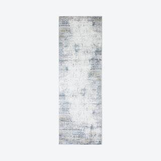 Haya Runner Rug - Ivory / Blue