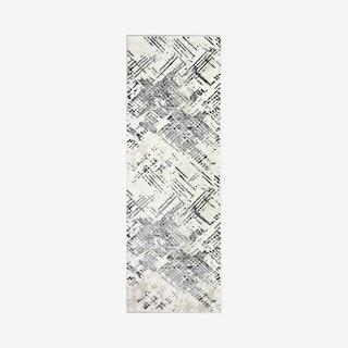 Rosalia Runner Rug - Ivory / Grey