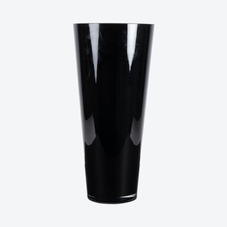 Tapered Round Vase - Black