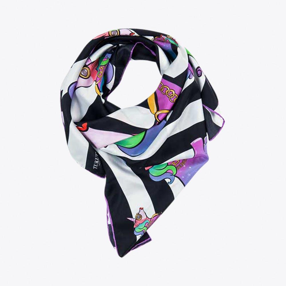 Unicorn Silk Foulard