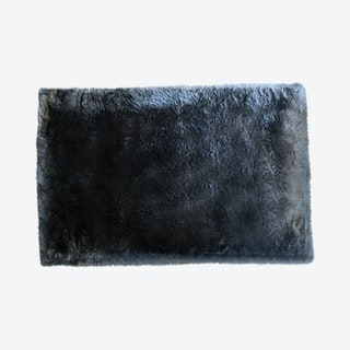 Rectangular Area Rug - Grey - Faux Sheepskin - Machine Washable