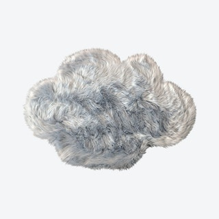 Cloud Area Rug - Light Grey - Faux Sheepskin - Machine Washable
