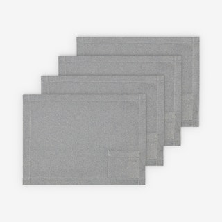 Placemats with Pockets - Denim Blue - Set of 4