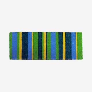 Green Stripes Door Mat