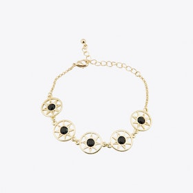 Compass North Star Multi Link Bracelet in Gold