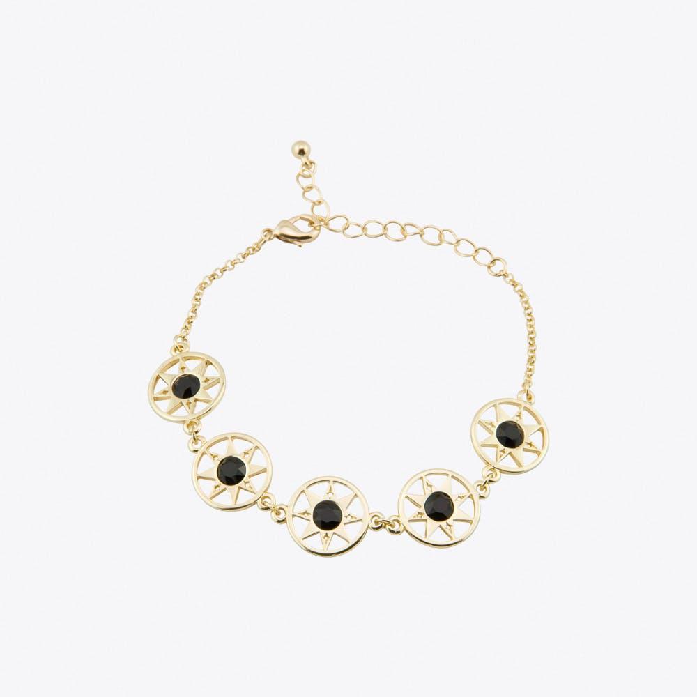Compass North Star Multi Link Bracelet in Gold