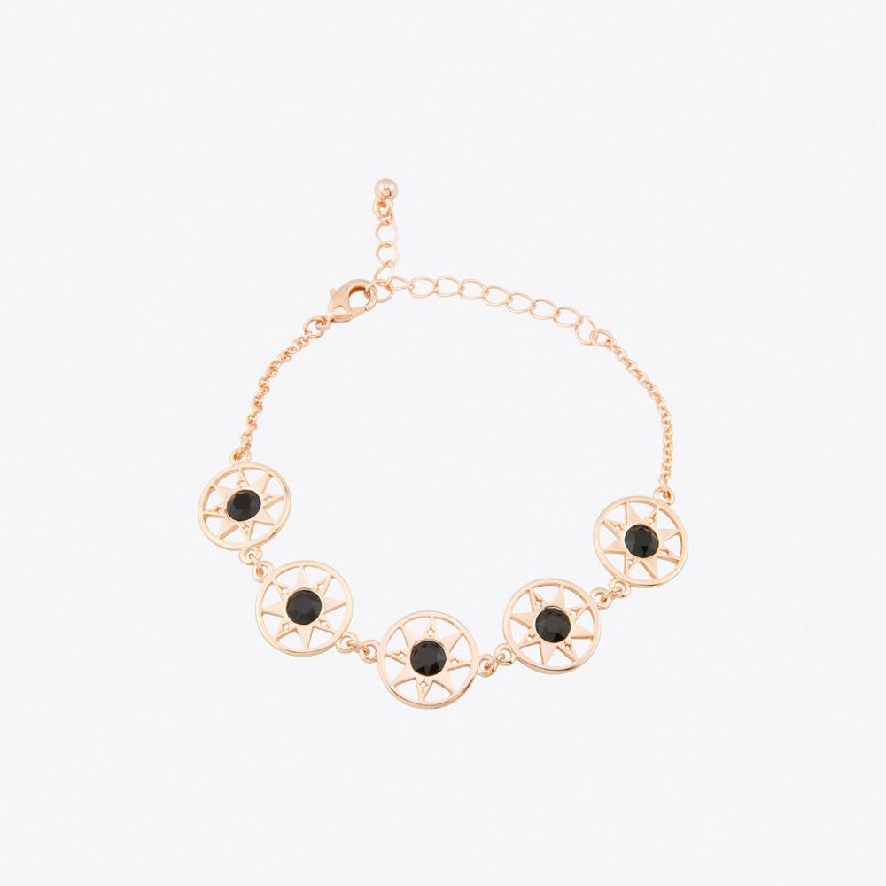 Compass North Star Multi Link Bracelet in Rose Gold