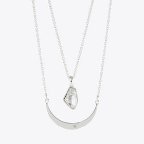 Double Space Necklace in Silver